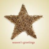 Salutations de saisons Images stock