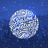 Salutations de saisons Carte de voeux de vacances Image libre de droits