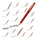 Salutations de stylo illustration libre de droits
