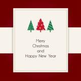 Salutations design de carte de Joyeux Noël et de bonne année Photo libre de droits