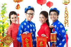 Salutations du Vietnam Photos libres de droits