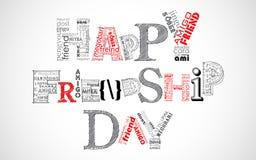 Salutations heureuses de jour d'amitié illustration libre de droits