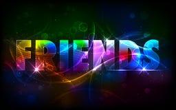 Salutations heureuses de jour d'amitié Images stock