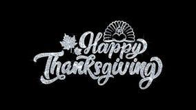 Salutations heureuses de particules de souhaits des textes de clignotement de thanksgiving, invitation, fond de c?l?bration illustration stock