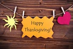Salutations heureuses de thanksgiving Images stock