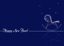 Salutations pendant la nouvelle année Photographie stock