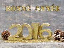 Salutations pendant la nouvelle année 2016 Photo libre de droits