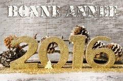 Salutations pendant la nouvelle année 2016 Photos stock