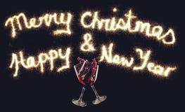 Salutations pendant Noël et la nouvelle année Photo libre de droits