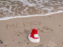 Salutations saisonnières de la plage Image stock