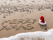 Salutations saisonnières de la plage Images stock