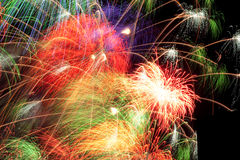 Salute. Fireworks in the night sky Stock Photography