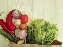 Salute assortita del mercato della cipolla delle verdure organiche Immagine Stock Libera da Diritti
