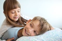 Salute, bellezza e concetto di infanzia Fotografie Stock Libere da Diritti