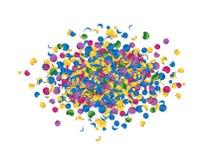 Salute celebration fireworks with confetti Royalty Free Stock Photo