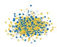 Salute celebration fireworks with confetti Stock Image