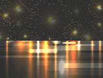 Salute celebration fireworks. vector background Stock Photo