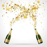 Salute of champagne Royalty Free Stock Image