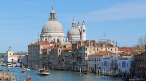 Salute church along Grand Canal Royalty Free Stock Images