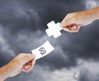 Salute d'acquisto, concetto di assicurazione immagini stock