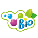 Salute dell'elemento di logo, elemento chimico Immagini Stock Libere da Diritti