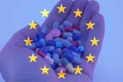 Salute dell'Unione Europea Fotografia Stock Libera da Diritti