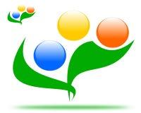 Salute di disegno del fiore di logo illustrazione di stock