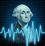 Salute di economia di Stati Uniti Immagine Stock Libera da Diritti