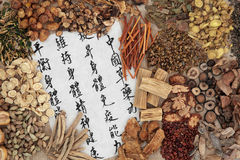 Salute di erbe cinese Immagine Stock