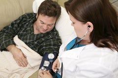 Salute domestica - pressione sanguigna Fotografia Stock Libera da Diritti