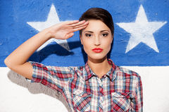 Salute! royalty free stock photography