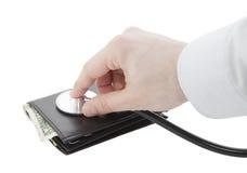 Salute finanziaria Fotografia Stock