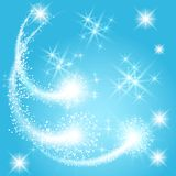 Salute and firework. Glowing salute and firework with sparkle stars vector illustration
