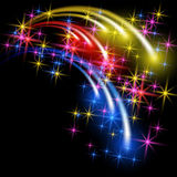 Salute and firework with sparkle stars. Glowing multicolor salute and firework with sparkle stars Royalty Free Stock Photo