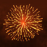 Salute Firework vector isolated on dark background.  Stock Images
