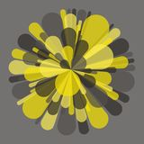 Salute and Fireworks. Vector Illustration. Salute and fireworks. Vector illustration for design. Yellow and gray abstract background Stock Photography