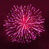 Salute glowing Firework vector isolated on dark background.  Stock Photos