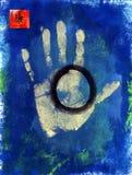 Salute Handprint Immagine Stock