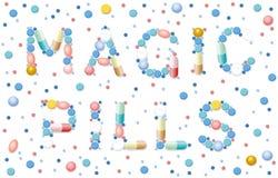 Salute magica della medicina della cura miracolosa delle pillole Fotografie Stock Libere da Diritti