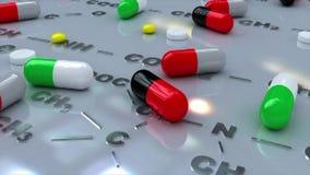 Salute medica della droga delle pillole illustrazione vettoriale