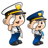 Salute to the Police Character Royalty Free Stock Photos