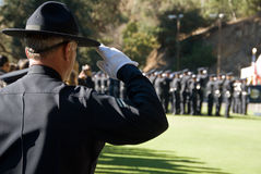 Salute to you all #2 - LAPD Royalty Free Stock Photo