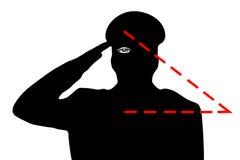 Salutera för militär Undermeningen av gesten, detseende ögat ny beställningsvärld stock illustrationer
