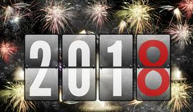Salutes of the New Year 2018 Stock Photography