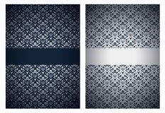 Saluti d'argento e blu scuro Fotografia Stock