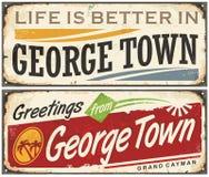 Saluti da George Town illustrazione di stock