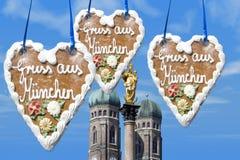 Saluti da Monaco di Baviera Fotografia Stock