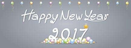 Saluti del buon anno del fondo Immagine Stock