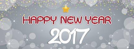 Saluti del buon anno del fondo Immagini Stock