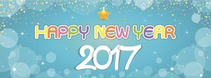 Saluti del buon anno del fondo Fotografia Stock